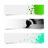 Simple colorful horizontal banners eps 10. Simple colorful horizontal banners with curves Royalty Free Stock Image