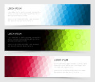 Simple colorful horizontal banners Royalty Free Stock Photography
