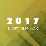 Simple Colorful New Year Card, Cover or Background Design Template - 2017 Stock Image