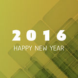 Simple Colorful New Year Card, Cover or Background Design Template - 2016 Stock Photography