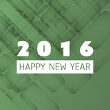 Simple Colorful New Year Card, Cover or Background Design Template - 2016 Royalty Free Stock Images