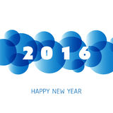 Simple Colorful New Year Card, Cover or Background Design Template - 2016 Royalty Free Stock Photo