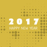 Simple Colorful New Year Card, Cover or Background Design Template - 2017 Stock Images
