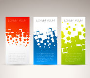 Simple colorful vertical  banners Stock Image
