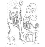 The simple coloring for Halloween theme made by hand drawing Royalty Free Stock Photos