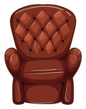 A simple coloured drawing of a brown furniture Stock Photography