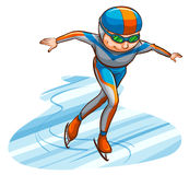 A simple coloured sketch of an athlete. Illustration of a simple coloured sketch of an athlete on a white background Stock Images