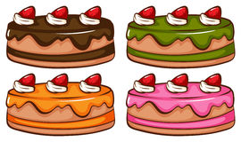 A simple coloured sketch of the cakes Stock Photography