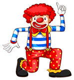 A simple coloured sketch of a clown Royalty Free Stock Photography