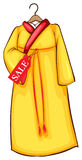 A simple coloured sketch of a dress Royalty Free Stock Image