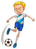 A simple coloured sketch of a soccer player Royalty Free Stock Photo