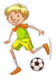 A simple coloured sketch of a soccer player Stock Photos