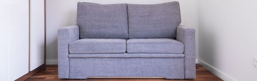 Simple comfortable double sofa Stock Photo