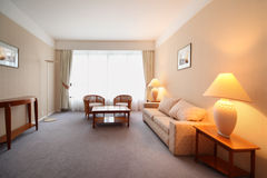 Simple comfortable room in hotel Stock Photography