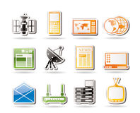 Simple Communication and Business Icons Stock Image