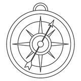 simple compass icon Royalty Free Stock Images