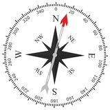 Simple compass rose Stock Photography