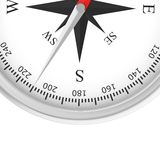 Simple compass rose. Isolated on white background royalty free illustration