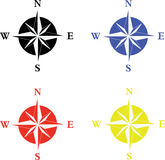 Simple compass set Stock Photo