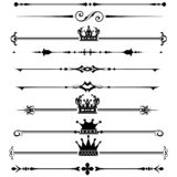Rule lines decorative borders vintage royalty free illustration