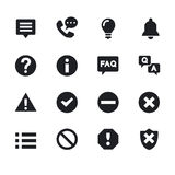 Simple computer icons set. Universal   to use for web and mobile UI,  of basic  elements Royalty Free Stock Image