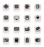 Simple Computer  Performance and Equipment Icons Royalty Free Stock Images