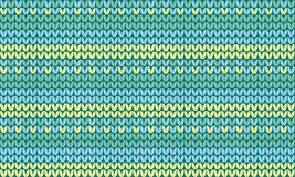 Simple concept knitted seamless pattern in summer colors. Repeatable motif for surface design, background, card, header, web Stock Images