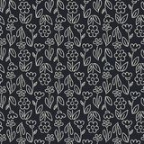 Simple Contour drawing seamless background. Hand drawn floral pattern . Suitable for backgrounds, invitations, Wallpapers,