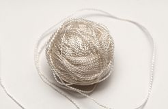 Simple cord skein on white background Stock Photos