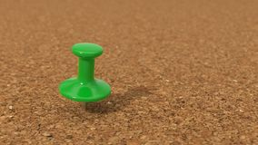 Simple cork pinboard and pin, 3d illustration. Royalty Free Stock Photography