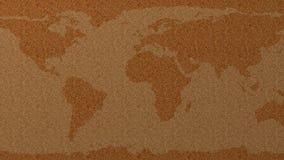 World map cork pinboard 3d illustration. Stock Photos