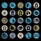 Simple cottages collection, real estate and construction theme. Stock Photography