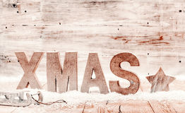 Simple country Xmas background Stock Photos