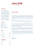 Simple cover letter design for resumes Royalty Free Stock Photography