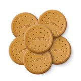 Simple Cracker Chip Cookies. To Tea Or Coffee. EPS10 Vector royalty free illustration