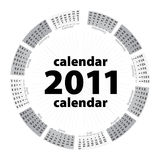 Simple creative calendar of 2011. On white stock illustration