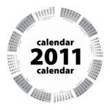 Simple Creative Calendar Of 2011 Royalty Free Stock Photos