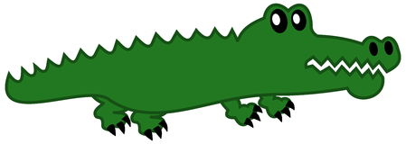 A simple crocodile. A illustration Stock Images