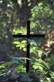 Simple Cross. In the forest Stock Photography