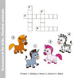 The simple crossword for kids. Royalty Free Stock Image
