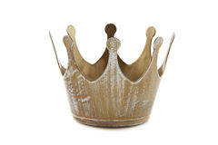 Simple crown. Close-up on a white background Royalty Free Stock Photo