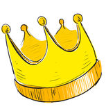 Simple crown icon Stock Photo
