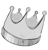 Simple crown icon Stock Image