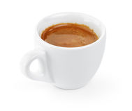 Simple cup of double espresso in the cup Royalty Free Stock Image