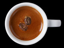 Simple cup of freshly made double espresso Stock Photo