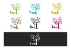 Free Simple Curly Colorfull Tree Royalty Free Stock Photos - 36511718