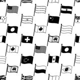 Simple curved flags of different country seamless pattern eps10 Royalty Free Stock Photo