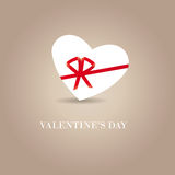 Simple cute card on valentine's day Royalty Free Stock Image