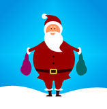 Simple cute cartoon Santa Stock Images