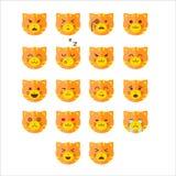 Simple cute cat emoticons Stock Image